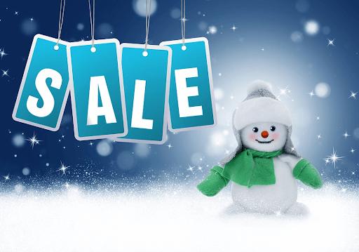 sale-snowman-new-year-discounts through proper labels