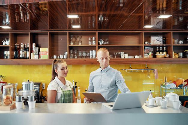 cafe owner building a website