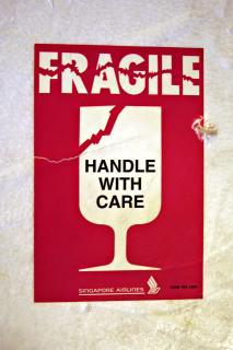 A fragile sticker