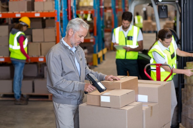 Barcodes for warehouse inventory and security