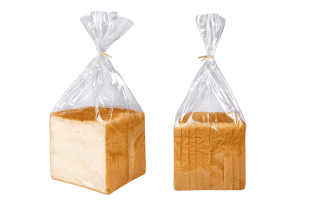 Bread bags closed with twist ties