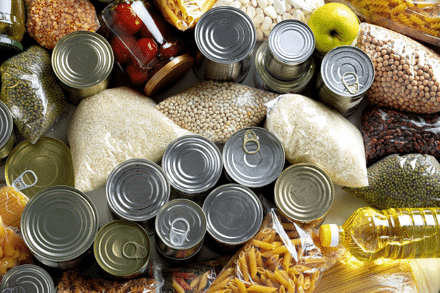 Different kinds of food packaging