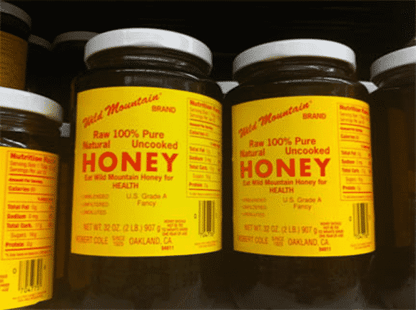 These honey labels are too crowded