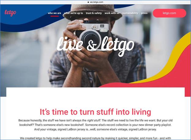 Letgo online ad posting site