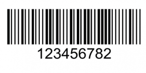 Example of a modified Plessey barcode