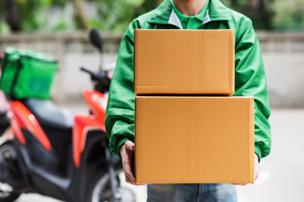 Packages being delivered as part of online selling