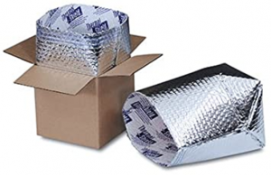 Thermal bubble wrap that fits in a box