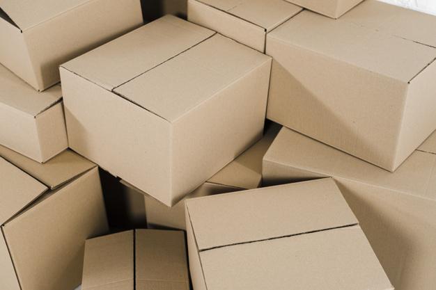 Unused brown boxes