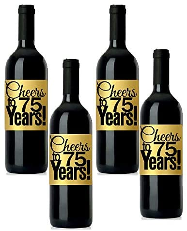 Gold metallic BOPP wine labels