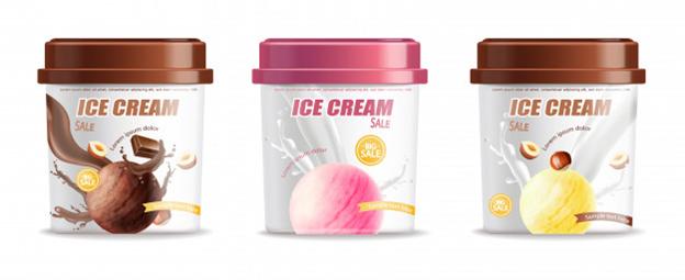 Waterproof ice cream labels