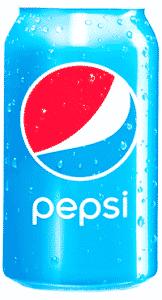 A faded Pepsi print