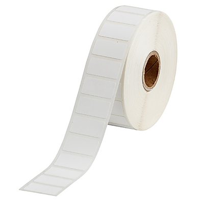 A roll of polypropylene freezer labels