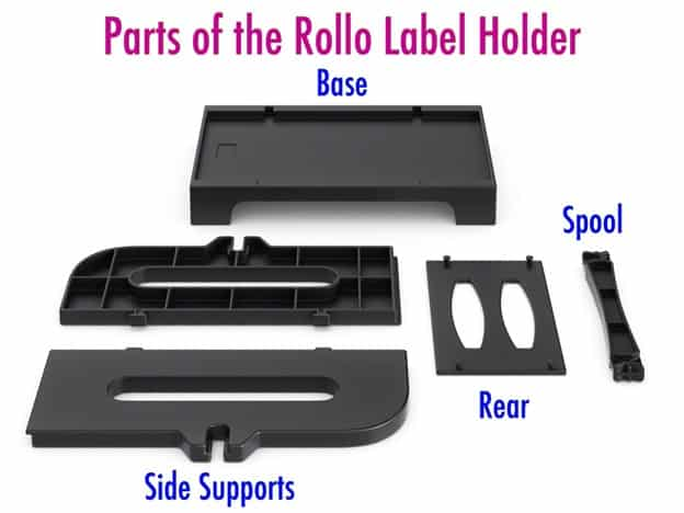 Parts of Rollo Label Holder