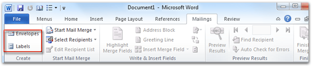 How to Create a Sheet of Labels in Word