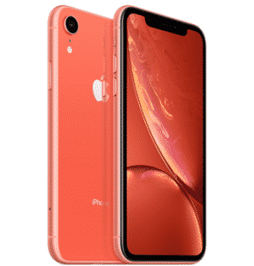 The coral iPhone XR