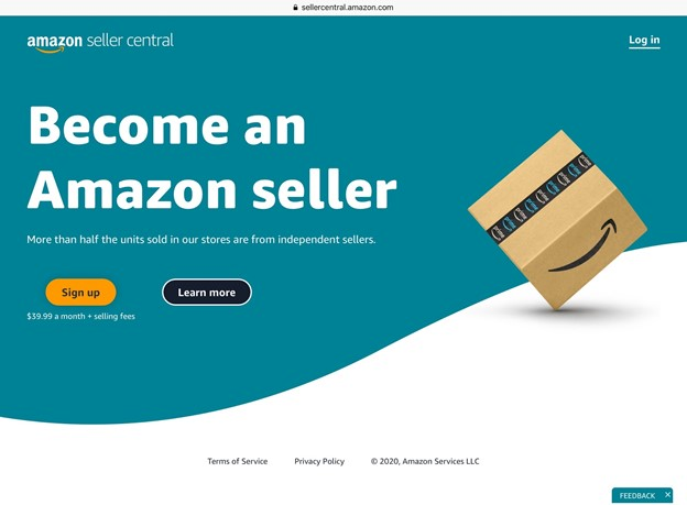 Amazon Seller Central home page