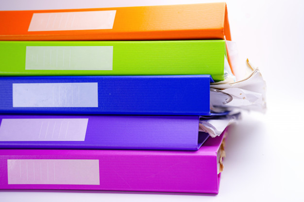 Color-coded folders