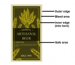 Beer Label Trimming for Bleed Printing