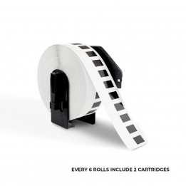 """Brother DK2210 Compatible Continuous White Paper Tape1-1/7"""" x 100′"""