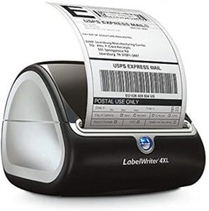 A Dymo 4XL Printer