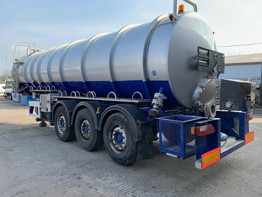 An ISO Tank Mounted on a Trailer