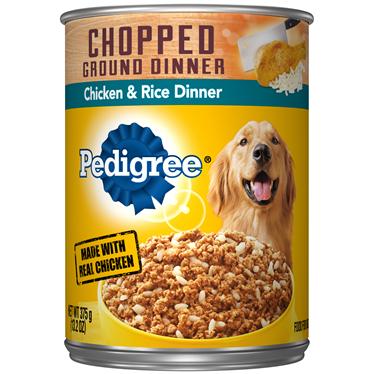 Pedigree Chopped Gound Dinner front label