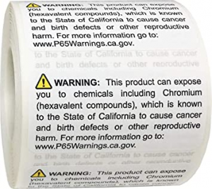 Proposition 65 Warning Label