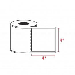 4″ x 4″ Direct Thermal Labels – 1″ Core