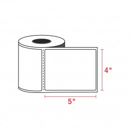 4″ x 5″ Direct Thermal Labels – 1″ Core