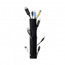Cable Management Ties 2″ x 40″ (Black, Velcro)