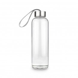 Glass Water Bottle / Sports (18oz) with Stainless Steel Cap