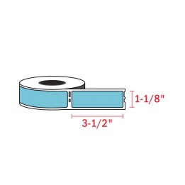 Compatible Dymo 30252 Cyan Address Labels 1-1/8″ x 3-1/2″ (350 / Roll)