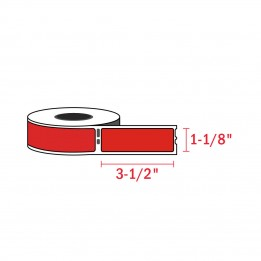 Compatible Dymo 30252 Red Address Labels 1-1/8″ x 3-1/2″ (350 / Roll)