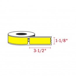 Compatible Dymo 30252 Yellow Address Labels 1-1/8″ x 3-1/2″ (350 / Roll)