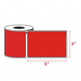 Compatible Dymo 1744907 4XL RED Shipping Labels 4″ x 6″ (220 / Roll)