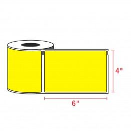 Compatible Dymo 1744907 4XL YELLOW Shipping Labels 4″ x 6″ (220 / Roll)