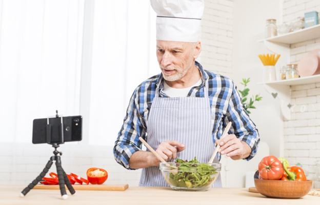 A man explaining online what's unique about his cooking