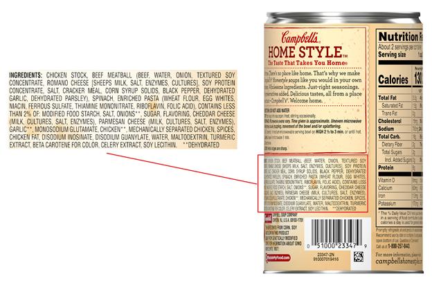 Allergen Statement on Food Label