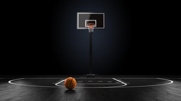 empty basketball stadium