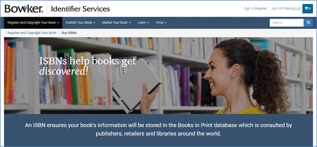 Bowker's Buy ISBN page.