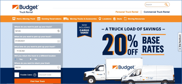 Budget Truck Rental for Local Moves