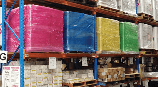 Colored stretch wraps make these products stand out in the shelf