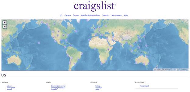 Craigslist-homepage