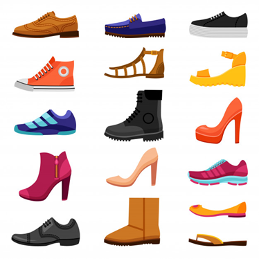 different types of shoes