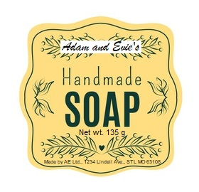 Legally Compliant Soap Label