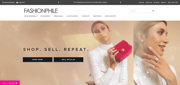 Fashionphile-homepage