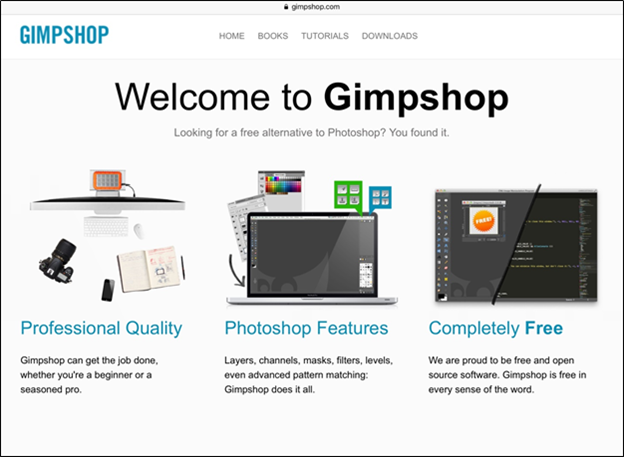 GIMPshop for photo and image editing