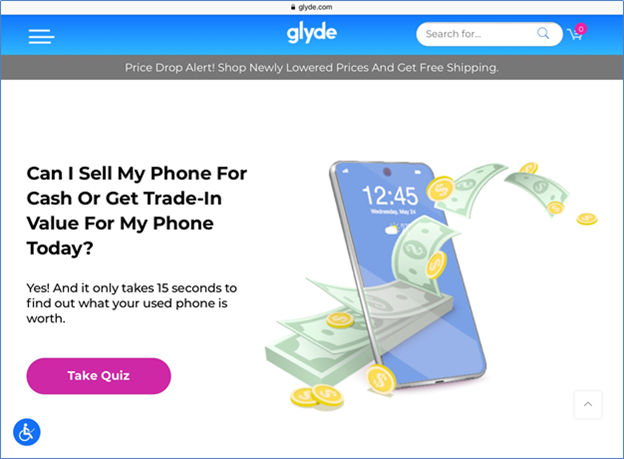 Glyde buy and sell site