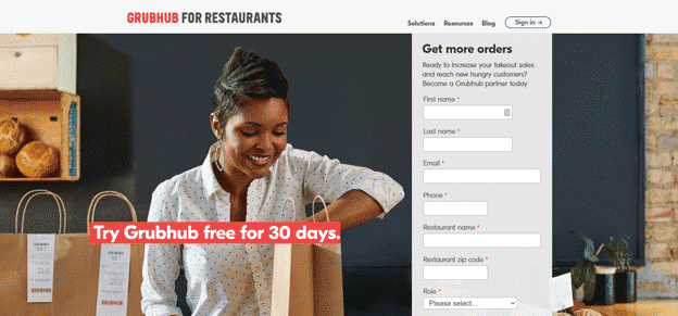 Grubhub-homepage