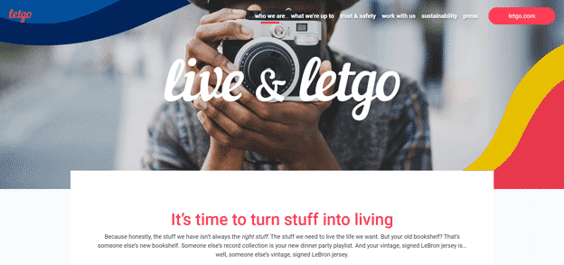 Letgo-homepage